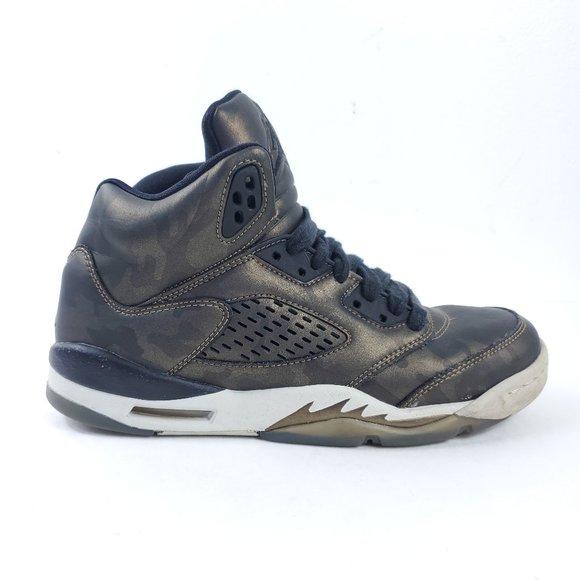 Air Jordan Boys 5 Retro Premium Heiress GS Basketb